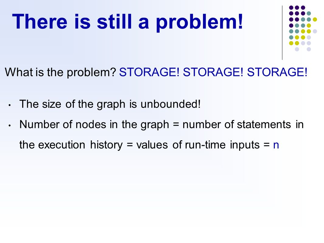 There is still a problem. What is the problem. STORAGE.