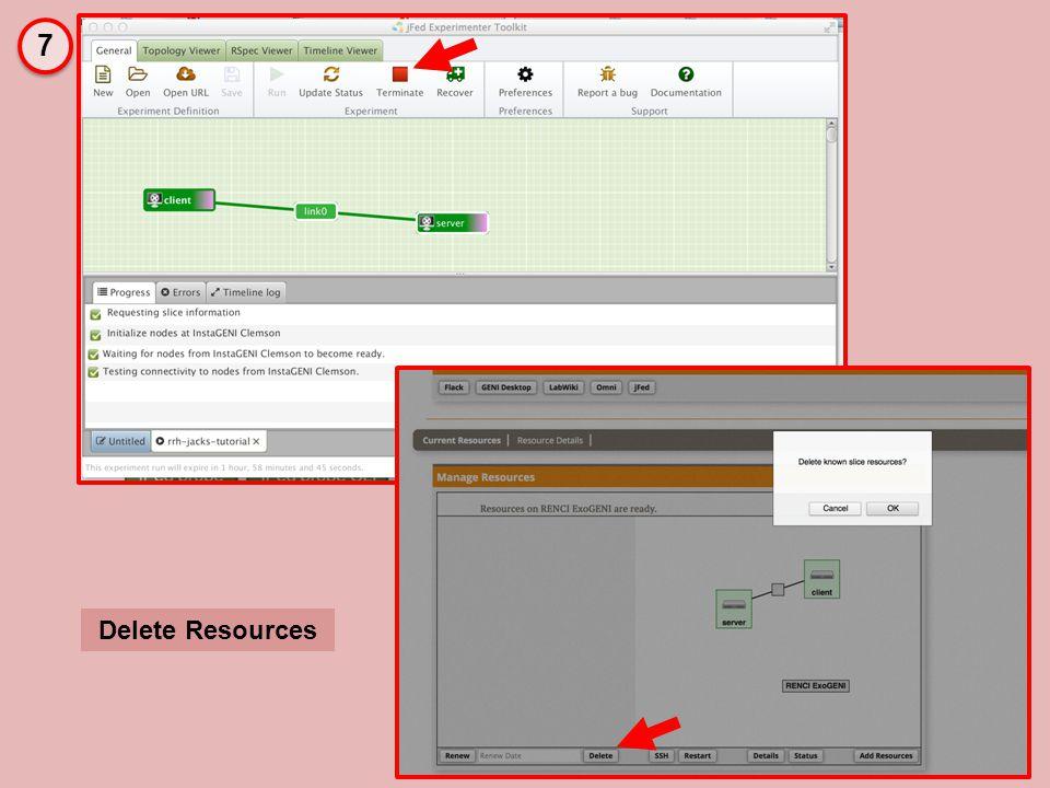 Delete Resources 7