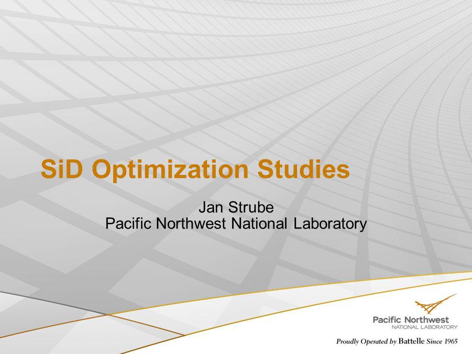 SiD Optimization Studies Jan Strube Pacific Northwest National Laboratory