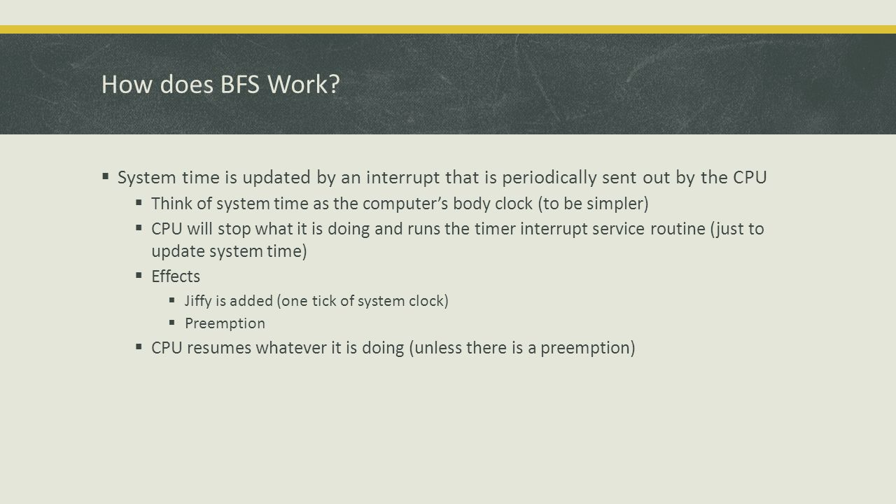 How does BFS Work.