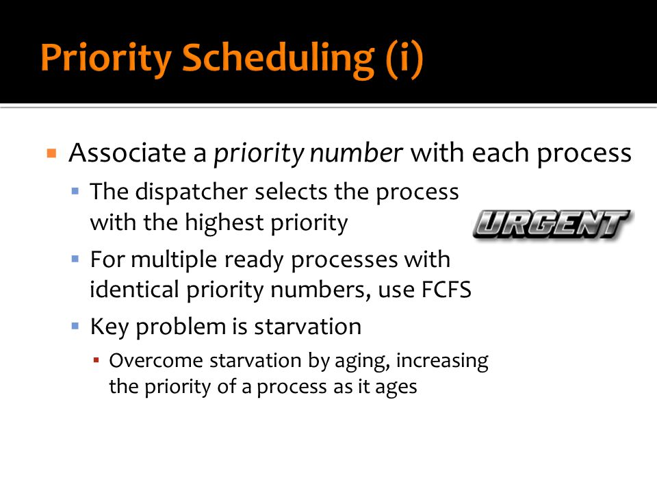 (use this one for Project #1)  Is priority scheduling preemptive or non-preemptive.