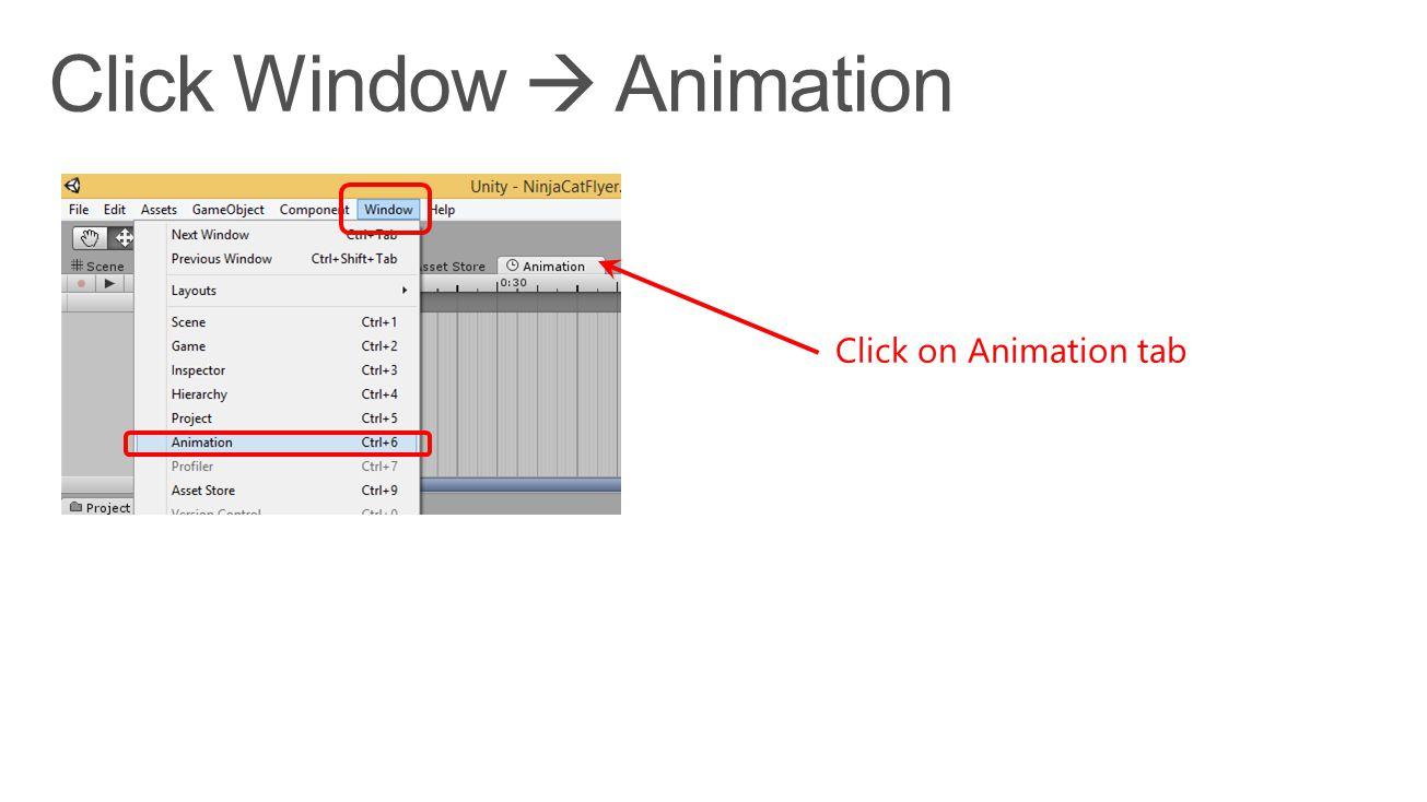 Click on Animation tab