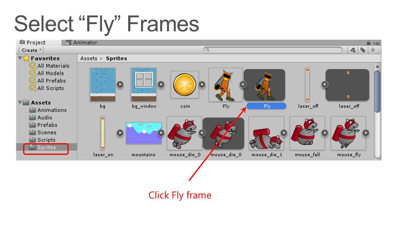 Click Fly frame