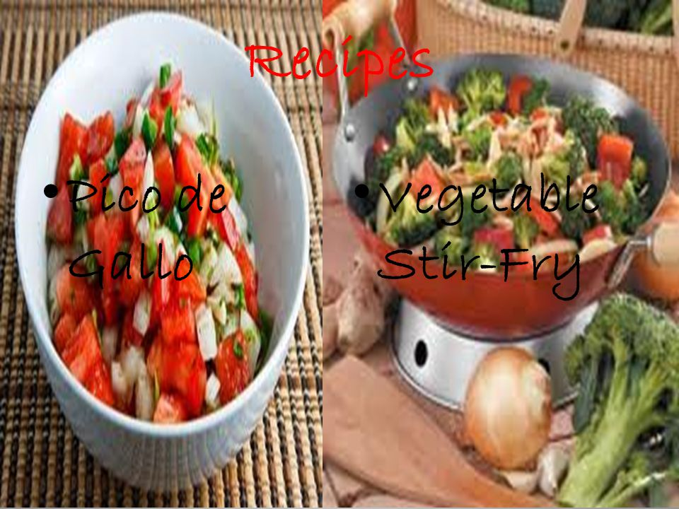 Recipes Pico de Gallo Vegetable Stir-Fry