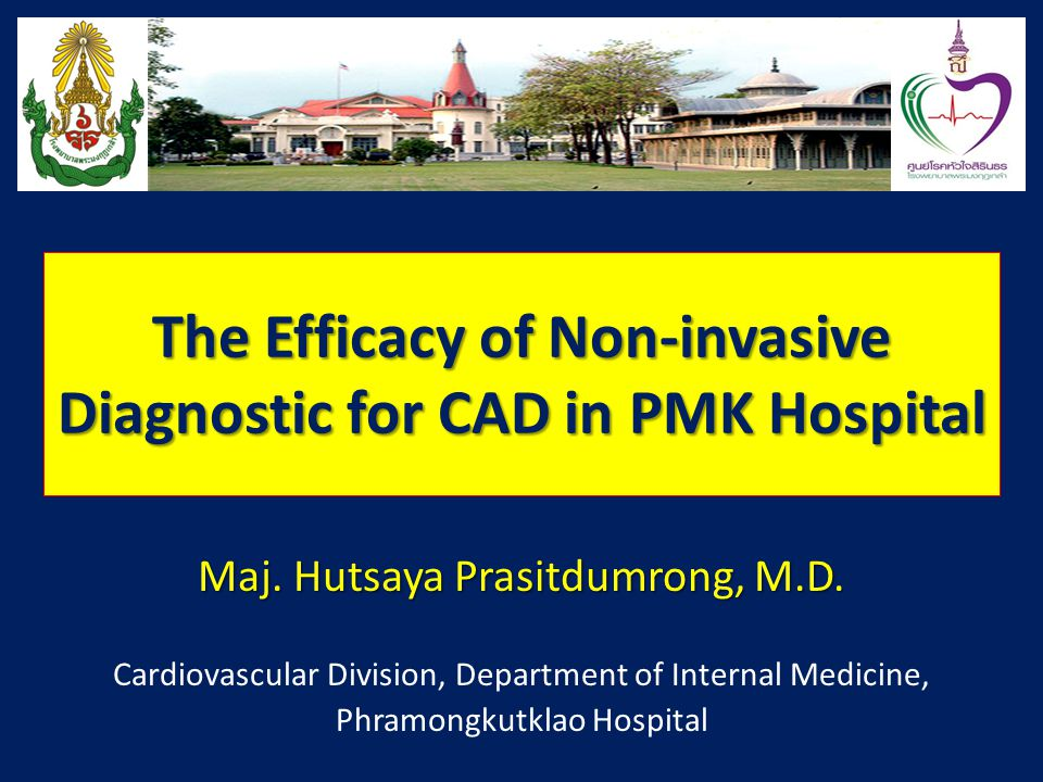 The Efficacy of Non-invasive Diagnostic for CAD in PMK Hospital Maj.
