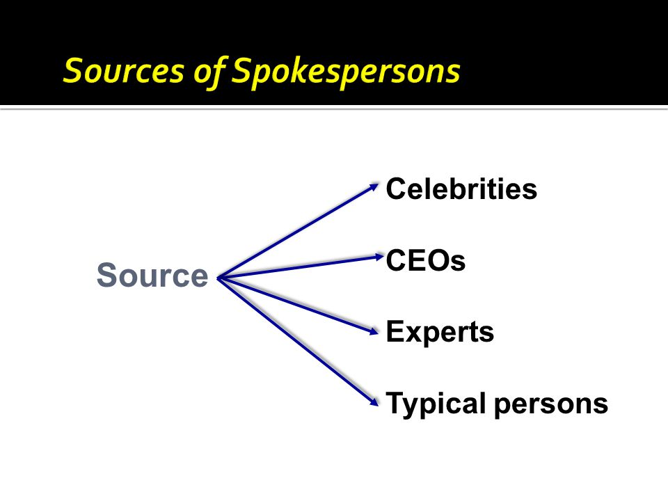 Source Celebrities CEOs Experts Typical persons