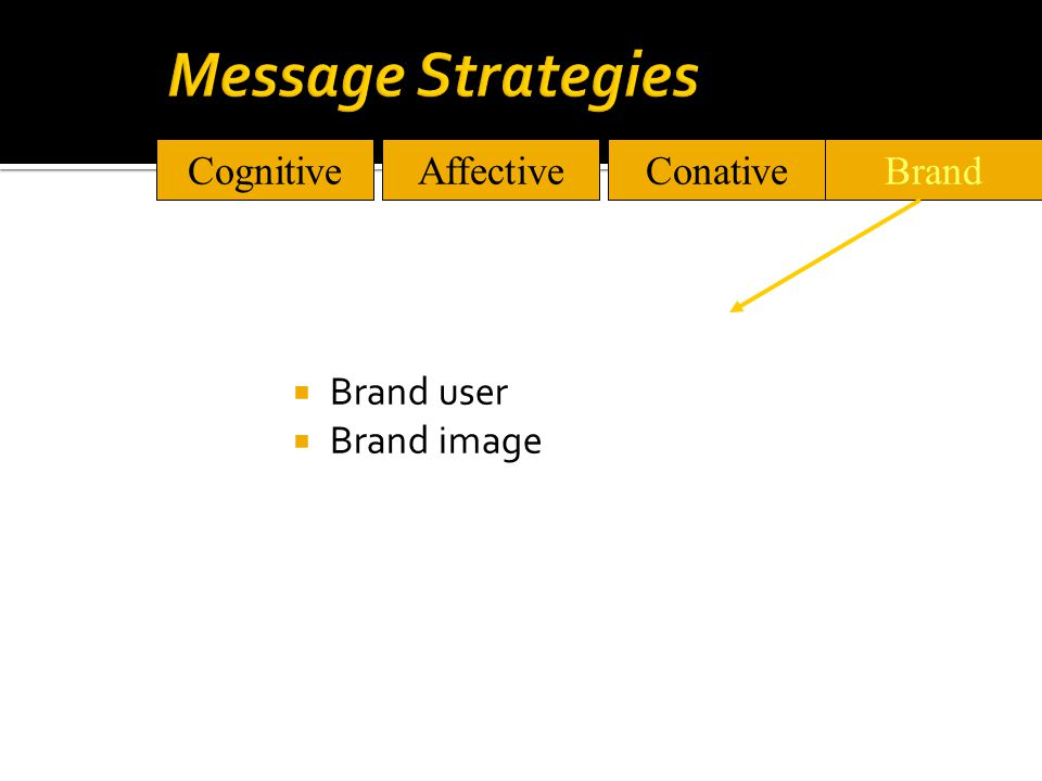  Brand user  Brand image CognitiveAffectiveConativeBrand