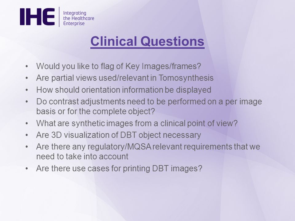 Clinical Questions Would you like to flag of Key Images/frames.