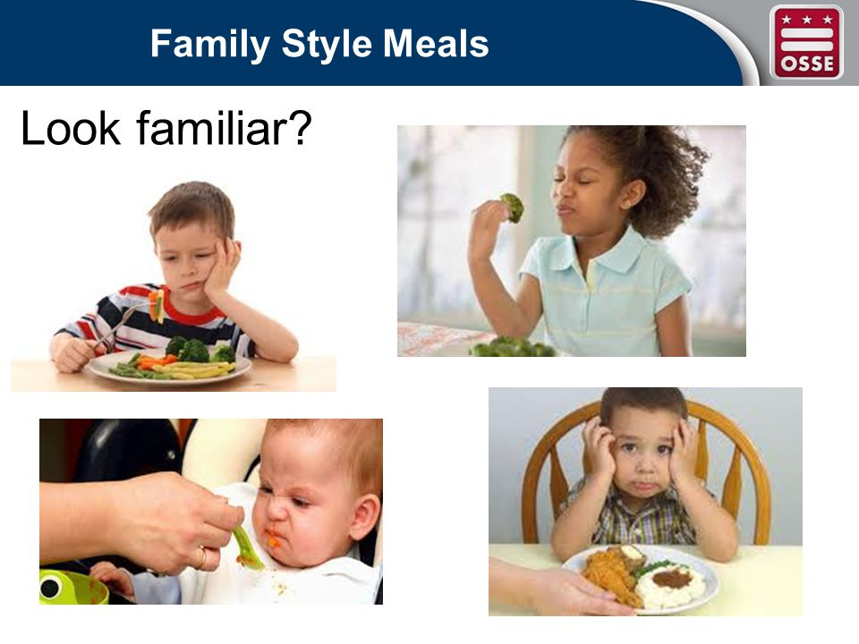 Family Style Meals Look familiar?