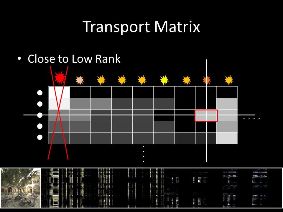 Transport Matrix Close to Low Rank..