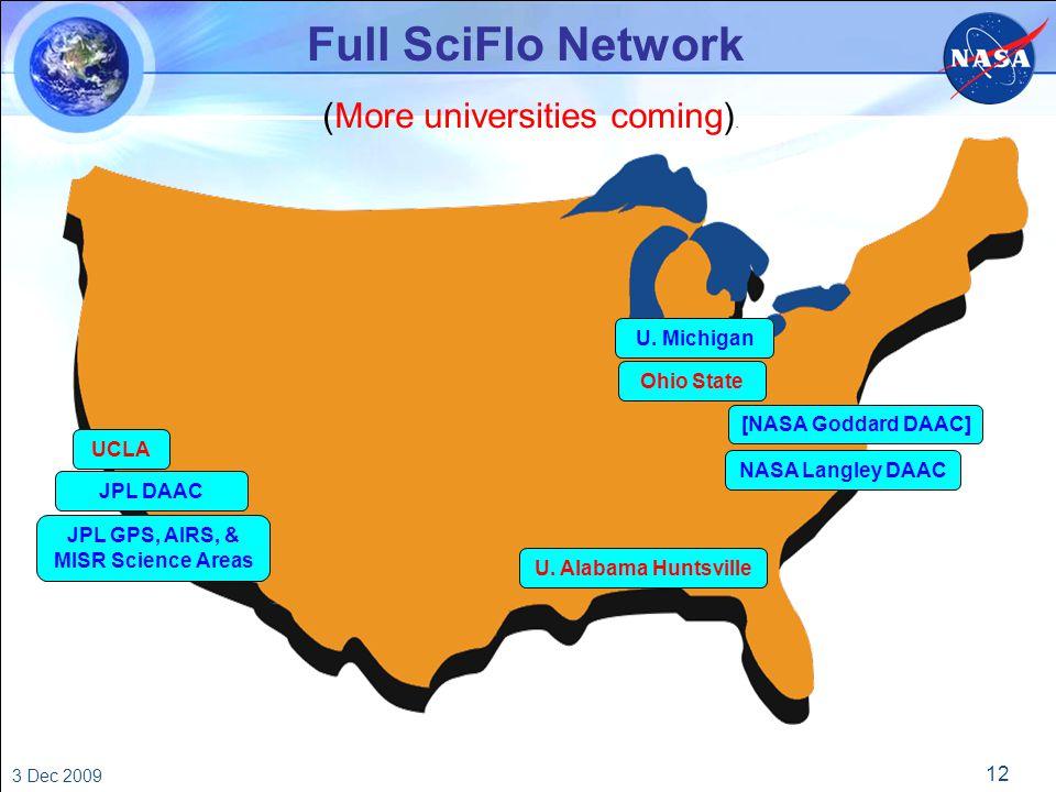 12 3 Dec 2009 Full SciFlo Network JPL GPS, AIRS, & MISR Science Areas U.