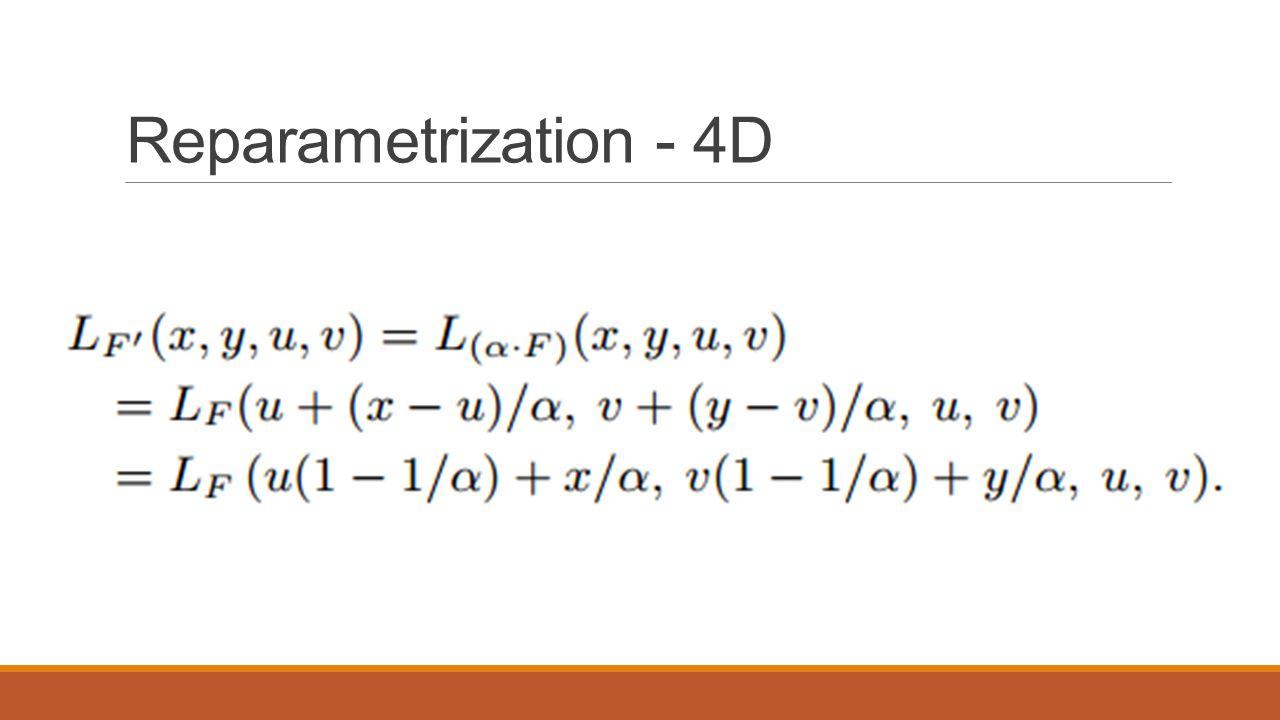 Reparametrization - 4D