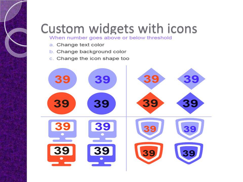 Custom widgets with icons