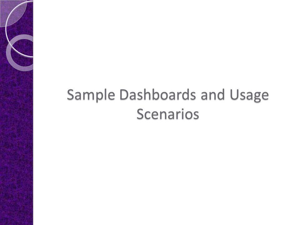 Sample Dashboards and Usage Scenarios