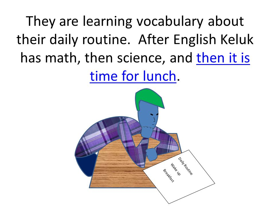 Keluk takes the bus to school so that his mom doesn't have to drive him. English is his first class. English is his first class Bus Clipart by Phillip