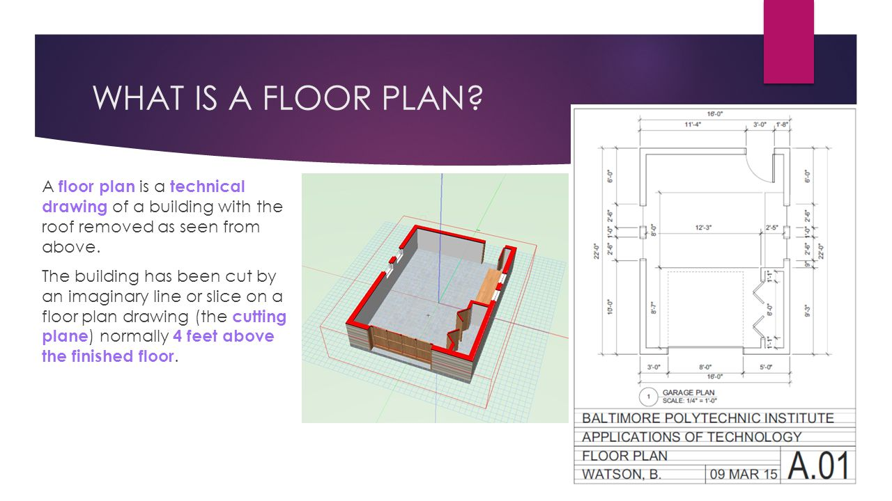 WHAT IS A FLOOR PLAN.