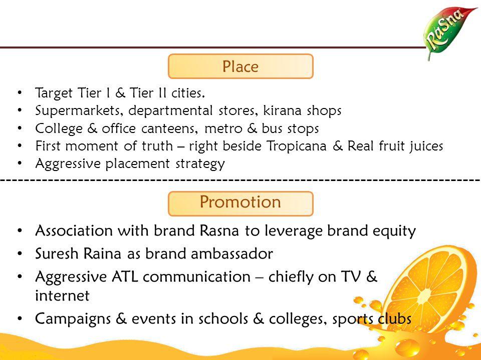Place Target Tier I & Tier II cities.