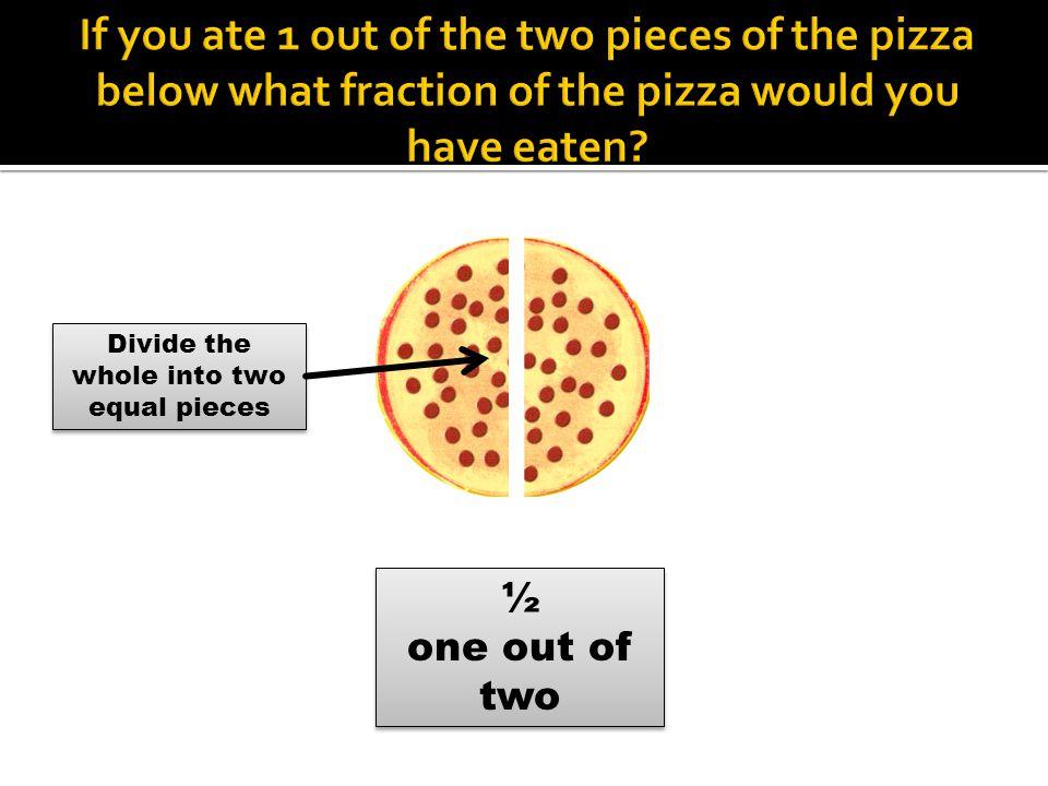 ¼ 25% ½ 50% ¾ 75% 4/4 100% 1612 Step 2: Divide by 2 16 ÷ 2 Step 2: Divide by 2 16 ÷ 2 Step 3: Divide by 2 again 8 ÷ 2 Step 3: Divide by 2 again 8 ÷ 2 4 8 Step 4: Add the number in ¼ column with the number in ½ column to get ¾.