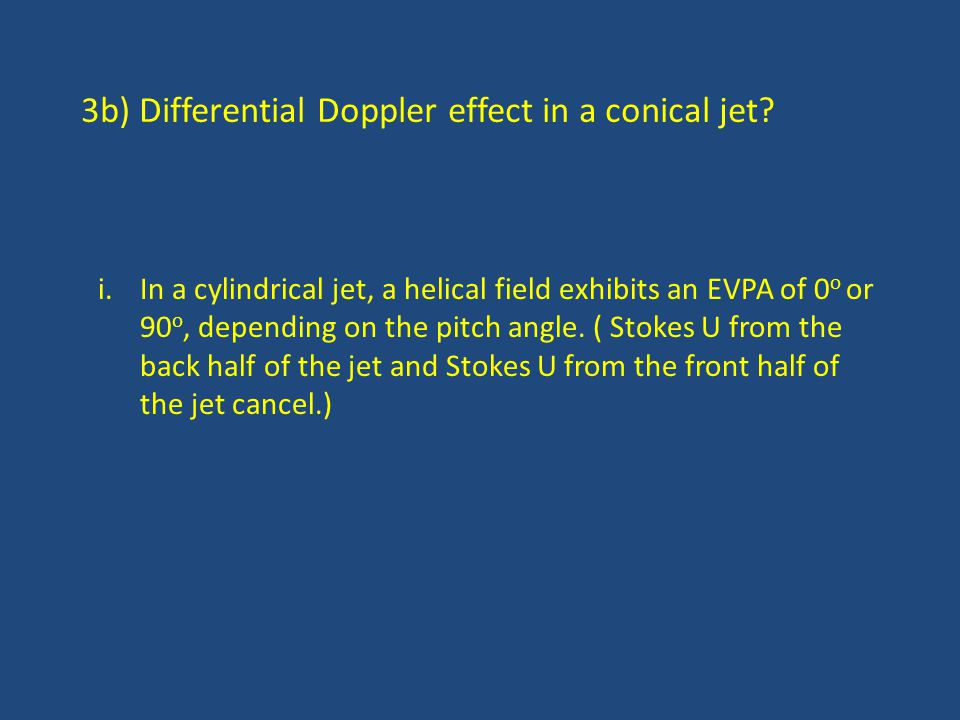 3b) Differential Doppler effect in a conical jet.