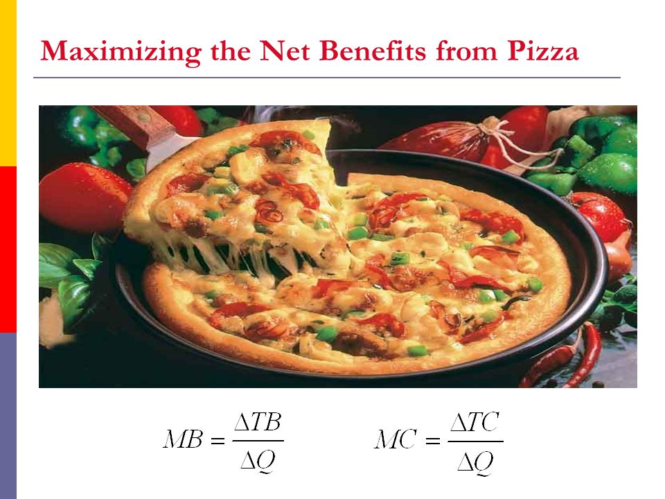 Maximizing the Net Benefits from Pizza
