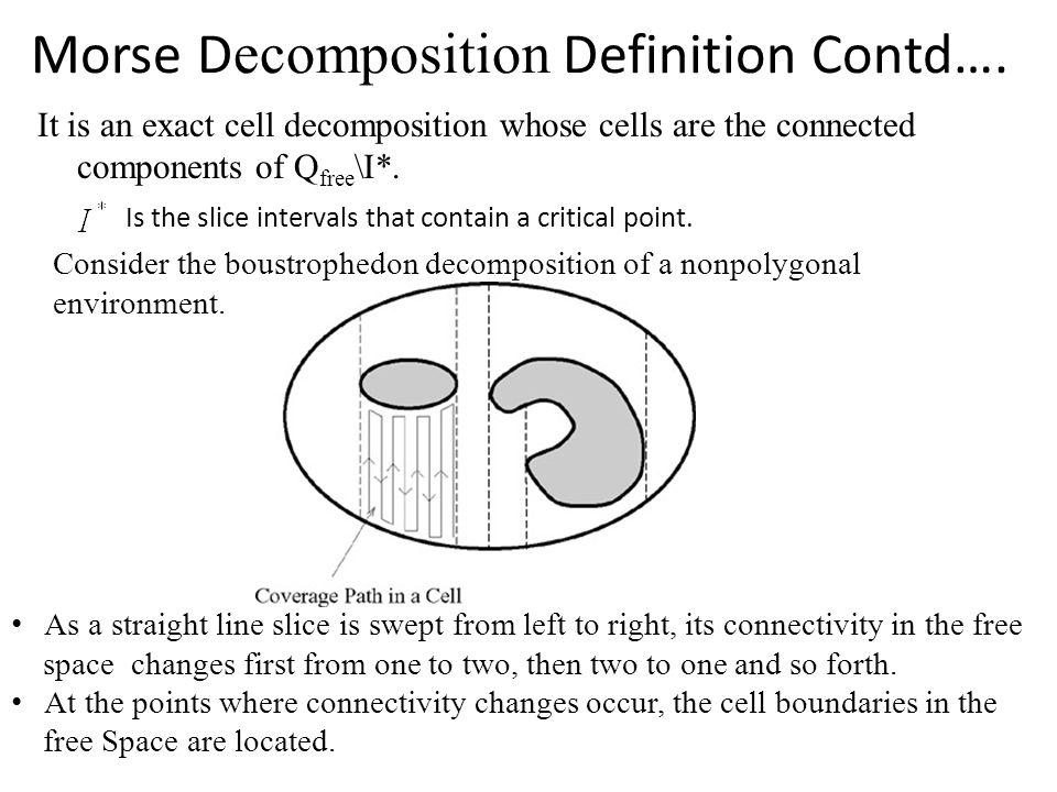 Morse D ecomposition Definition Contd….
