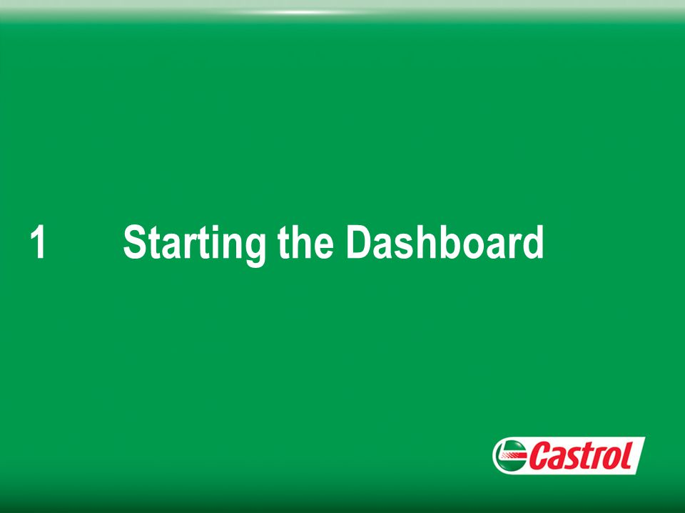 1Starting the Dashboard