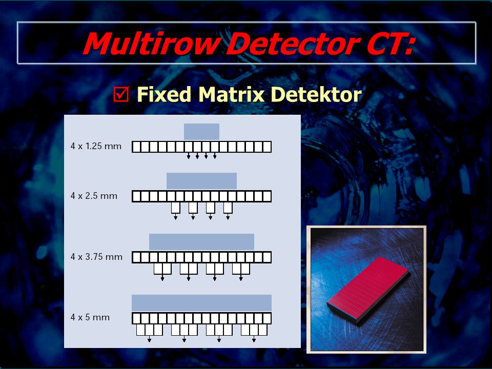 Multirow Detector CT:  Fixed Matrix Detektor