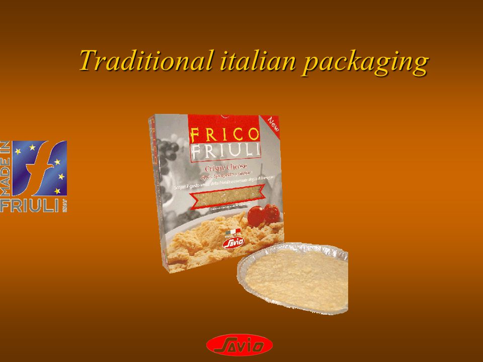 Traditional italian packaging