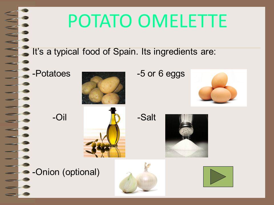 POTATO OMELETTE (TORTILLA DE PATATA)