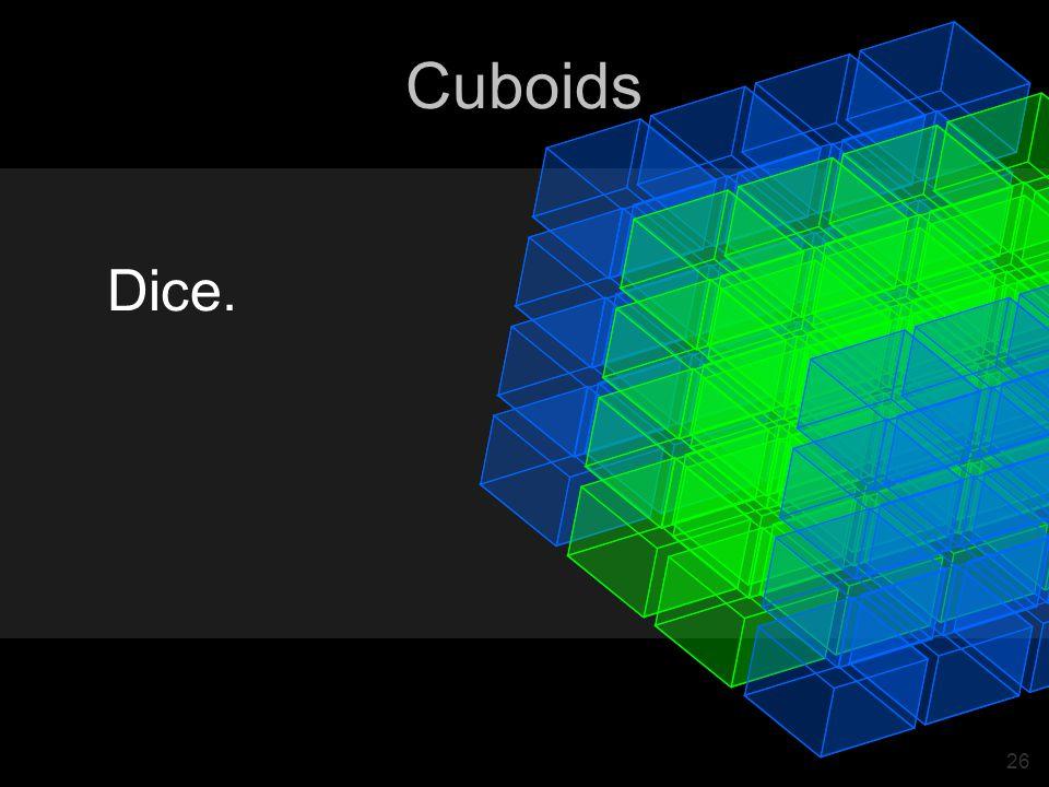 26 Cuboids Dice.