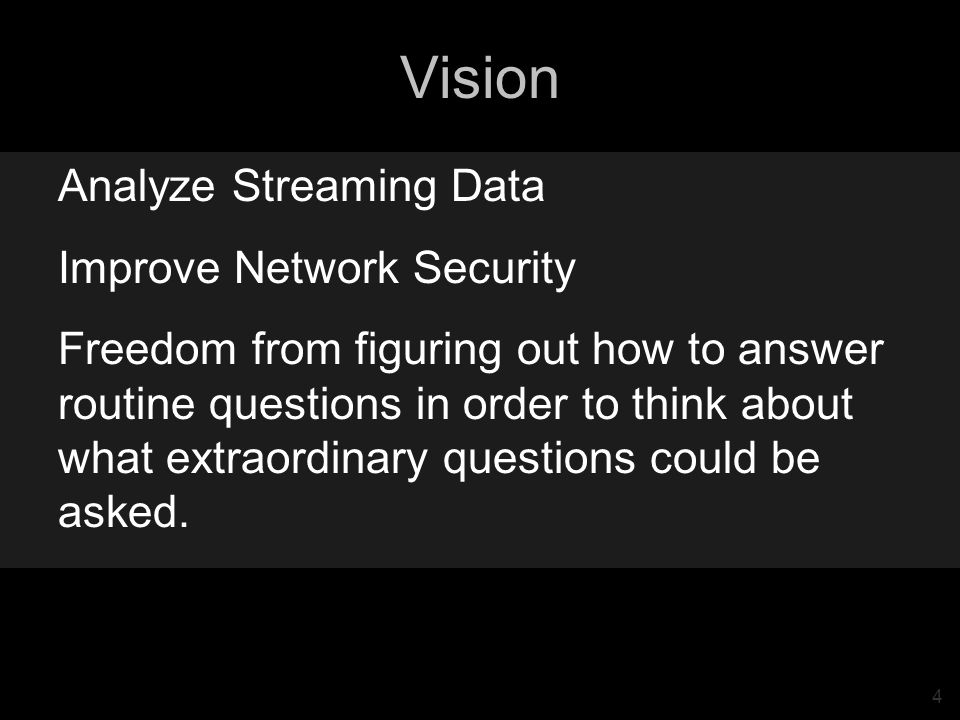 35 Cuboid Example In actuality, the network data stream has 16 dimensions.