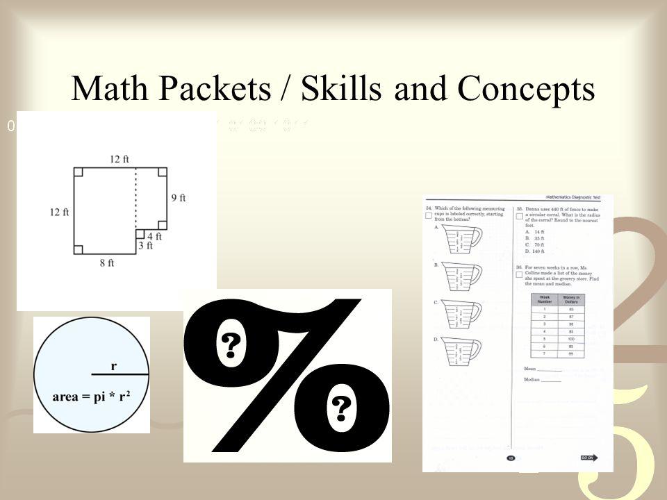 Math Packets / Skills and Concepts