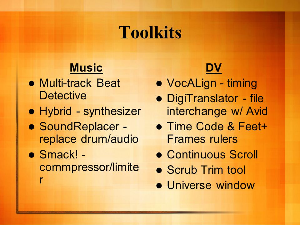 Toolkits Music Multi-track Beat Detective Hybrid - synthesizer SoundReplacer - replace drum/audio Smack.