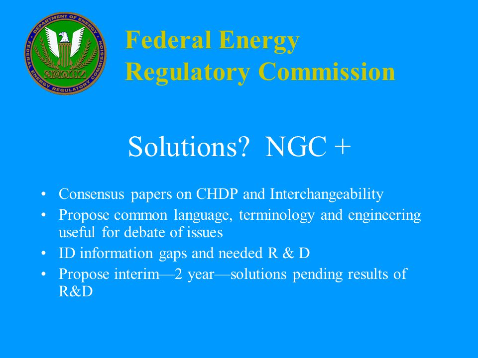 Federal Energy Regulatory Commission Solutions.