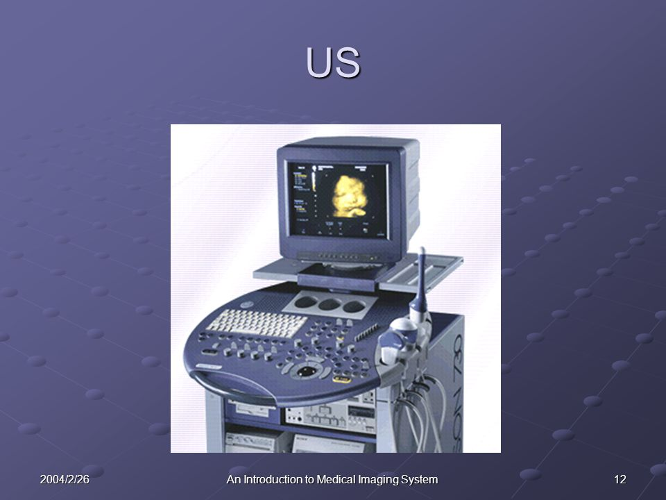 122004/2/26An Introduction to Medical Imaging System US