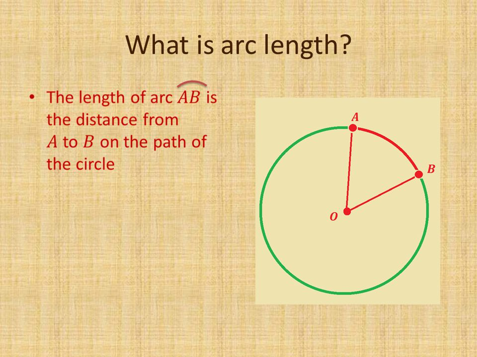What is arc length