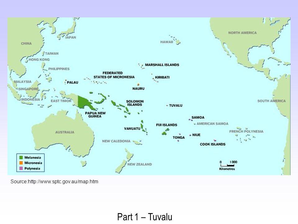 Source:http://www.sptc.gov.au/map.htm Part 1 – Tuvalu