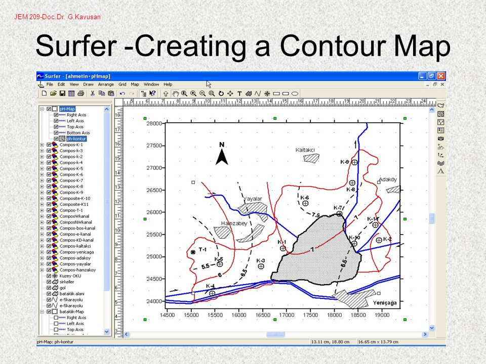 Surfer -Creating a Contour Map JEM 209-Doc.Dr. G.Kavusan