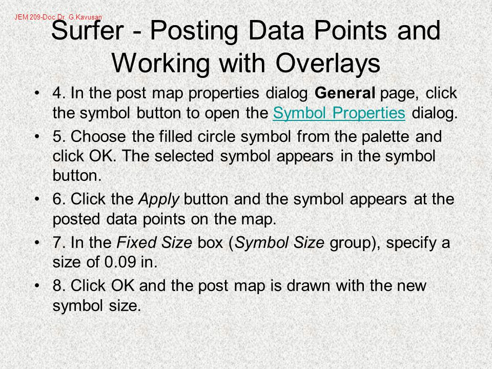 Surfer - Posting Data Points and Working with Overlays 4.