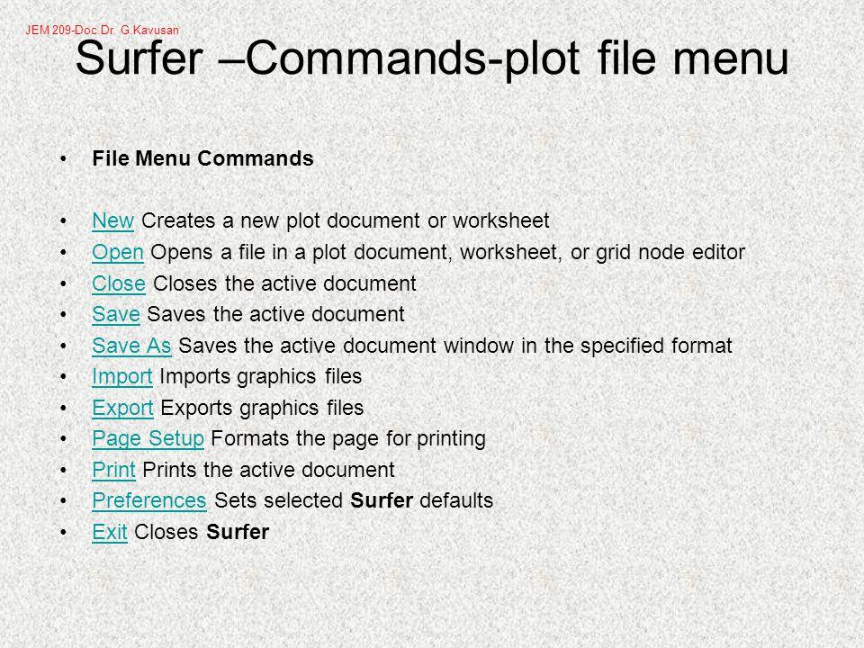 Surfer -Creating a Grid File 6.Click OK.