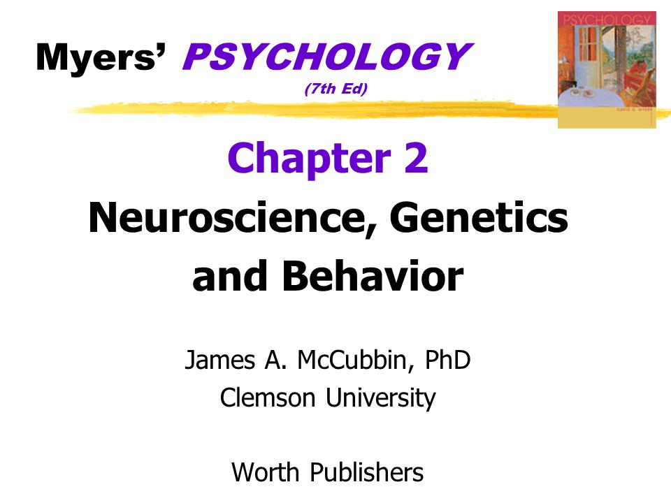 Neural Communication  Biological Psychology  branch of psychology concerned with the links between biology and behavior  some biological psychologists call themselves behavioral neuroscientists, neuropsychologists, behavior geneticists, physiological psychologists, or biopsychologists  Neuron  a nerve cell  the basic building block of the nervous system