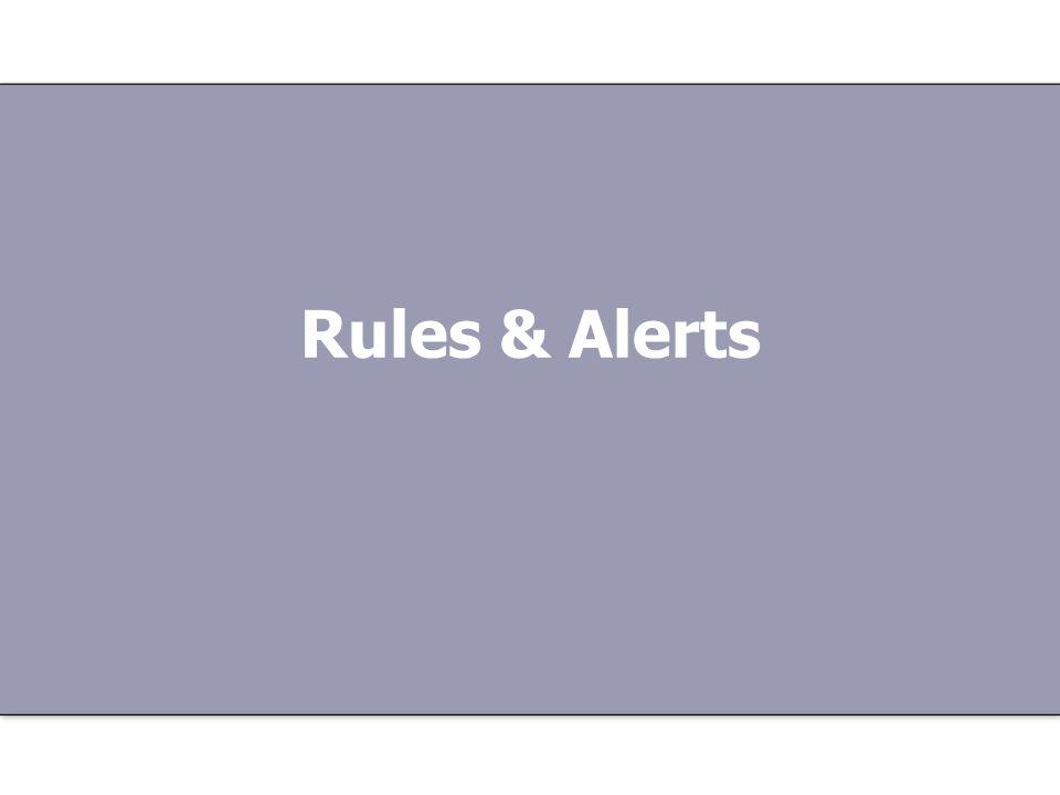 Rules & Alerts