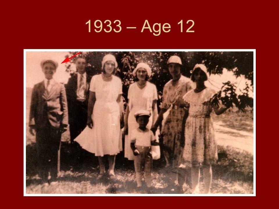 1933 – Age 12