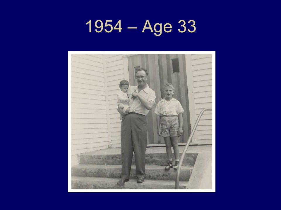 1954 – Age 33