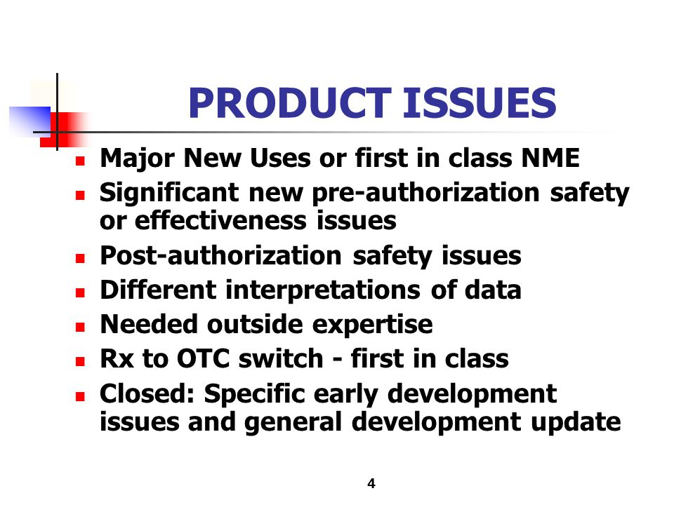 5 POLICY ISSUES General scientific policy issues Specific guidelines that have significant impact Special new role under pediatric legislation - labeling disputes