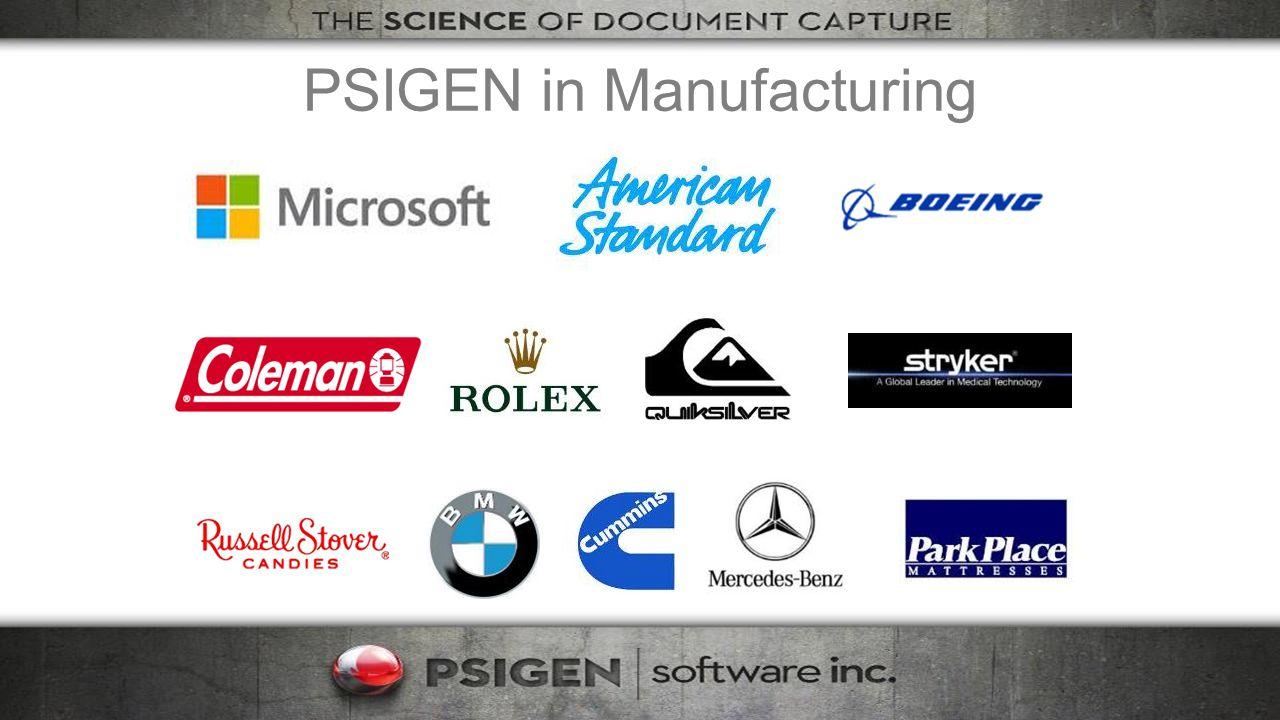 PSIGEN in Manufacturing