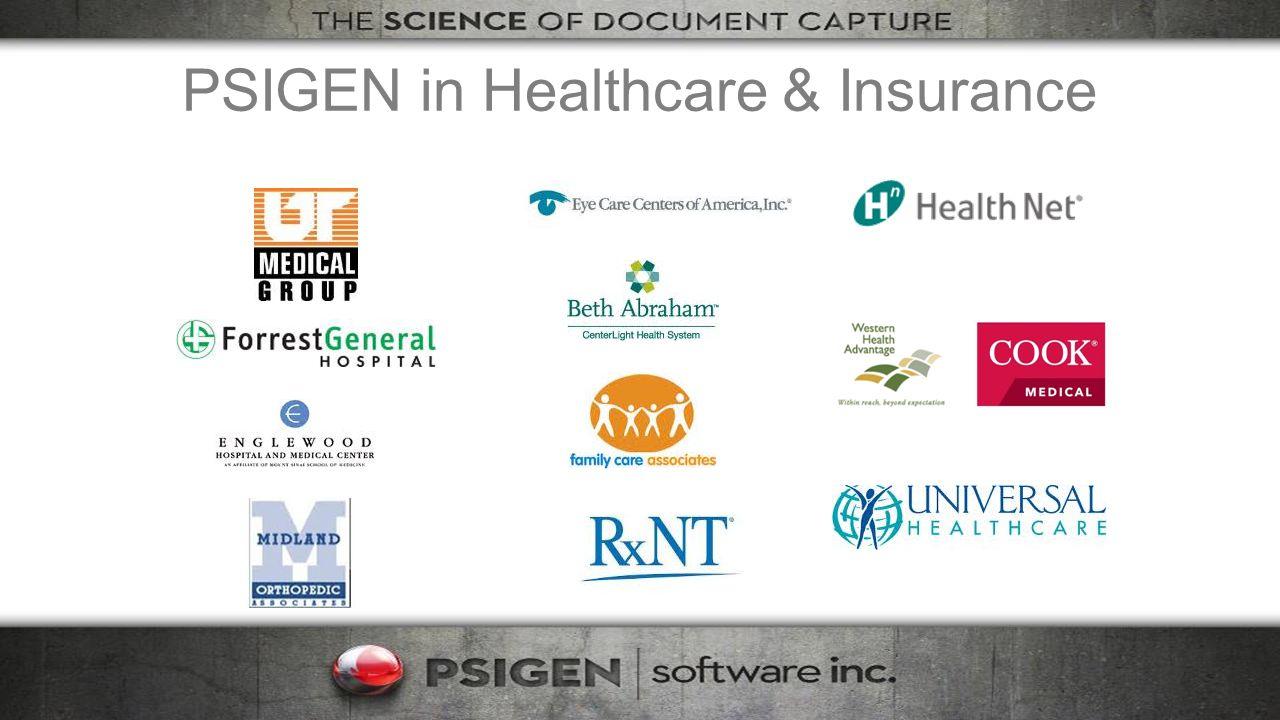 PSIGEN in Healthcare & Insurance