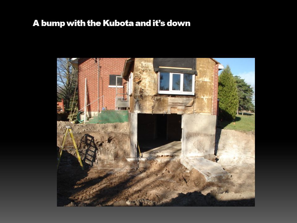 A bump with the Kubota and it's down