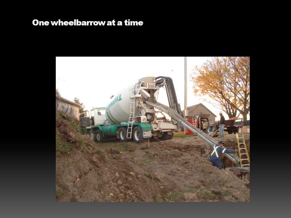 One wheelbarrow at a time