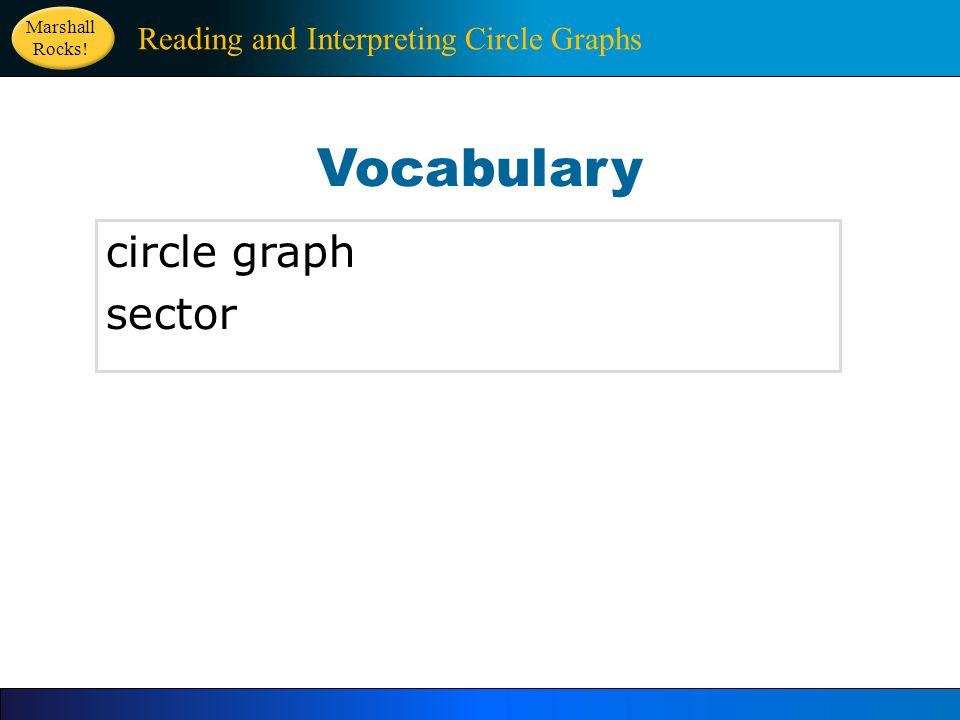 Vocabulary circle graph sector Reading and Interpreting Circle Graphs Marshall Rocks!